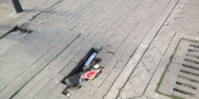 Los huecos resultan un verdadero peligro para los ciclistas Foto:Federico Arango – Publimetro