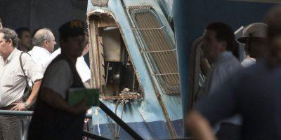 Vista de una parte de un tren hoy, miércoles 22 de febrero de 2012, tras su accidente en Buenos Aires (Argentina). Foto:EFE