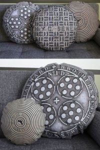 Cojines en forma de tapas de alcantarilla Foto:buzzfeed.com