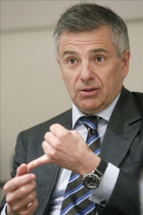 Juan Antonio Samaranch Salisachs, miembro del Comité Olímpico Internacional (COI), durante una entrevista hoy en la sede de la Agencia EFE en Madrid. EFE