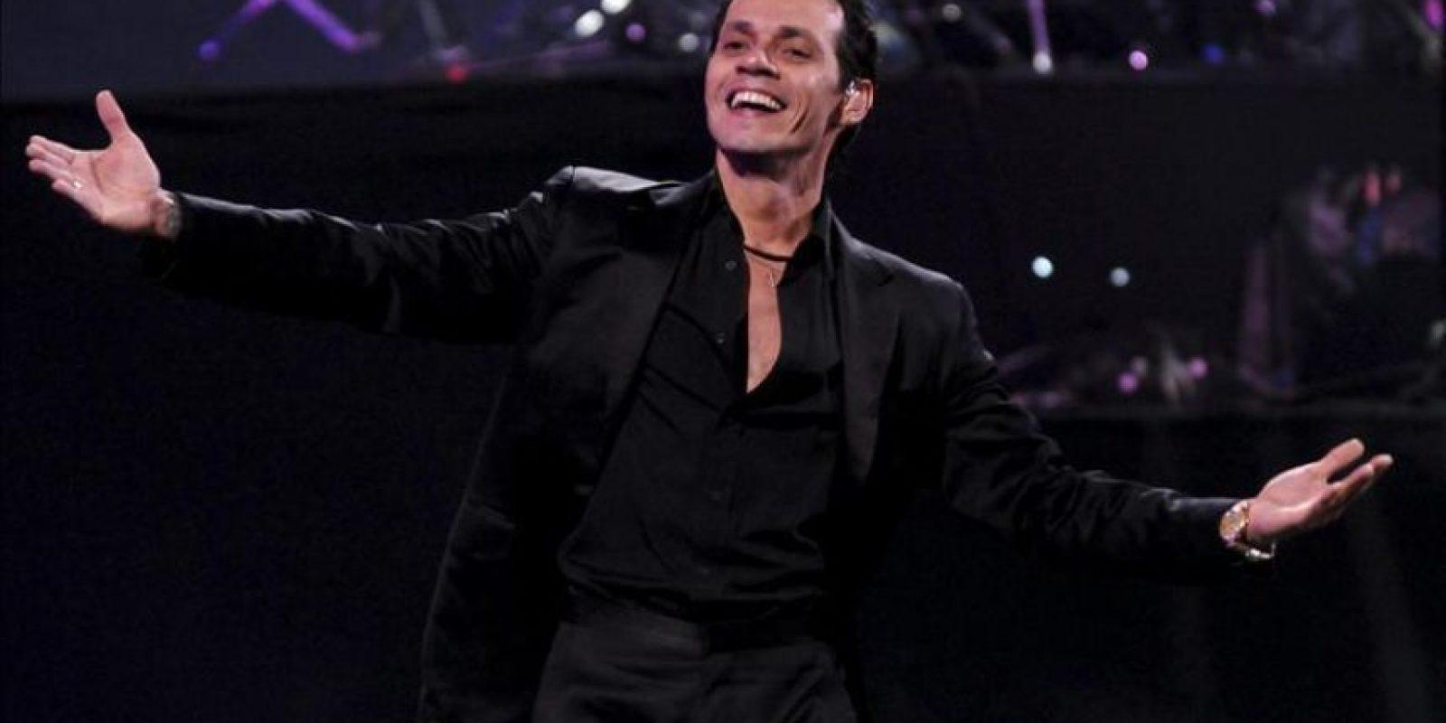 El cantante estadounidense de origen puertorriqueño Marc Anthony, en el 53 Festival Internacional de la Canción de Viña del Mar (Chile). EFE