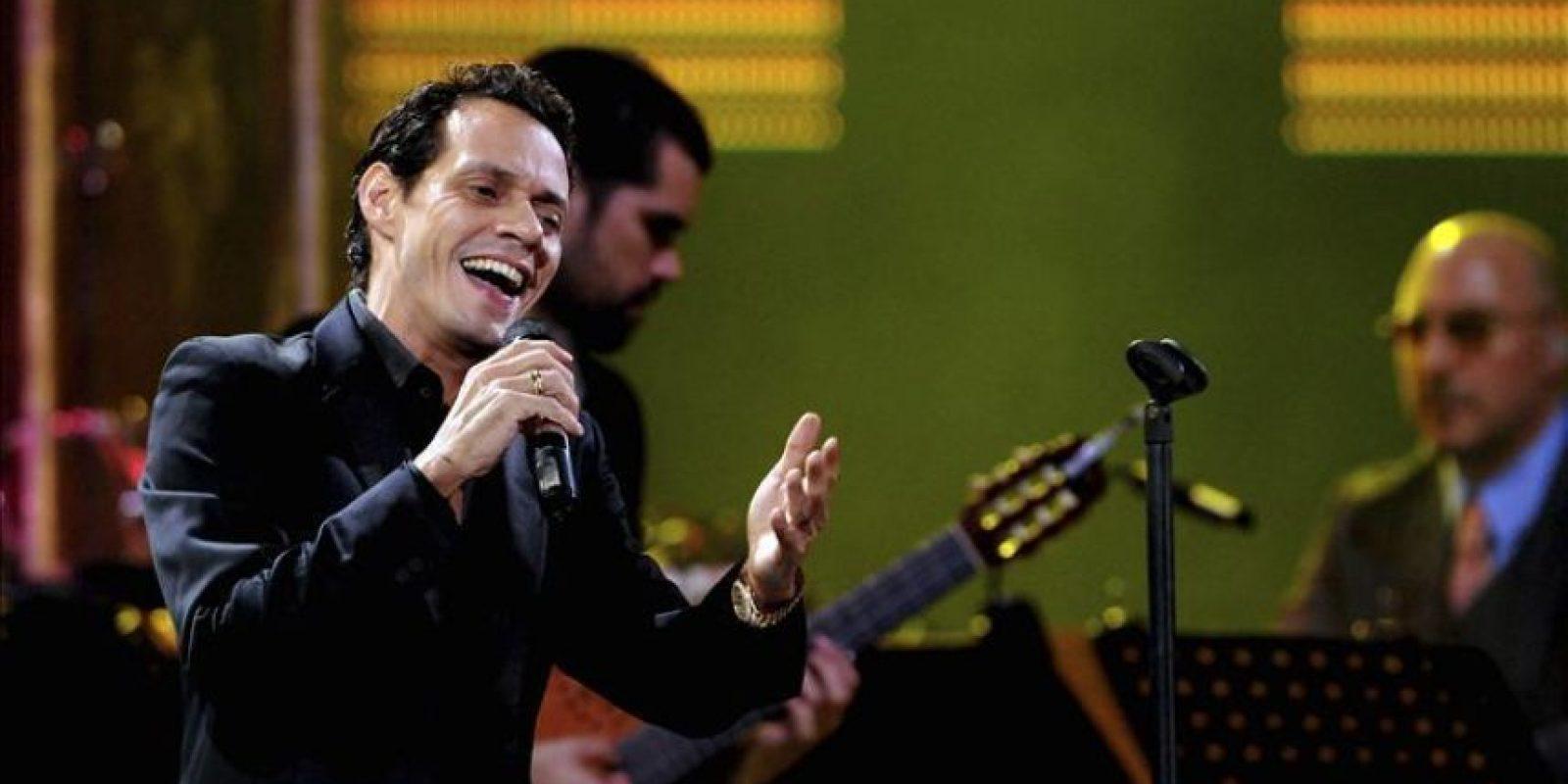 El cantante estadounidense de origen puertorriqueño Marc Anthony en el 53 Festival Internacional de la Canción de Viña del Mar (Chile). EFE