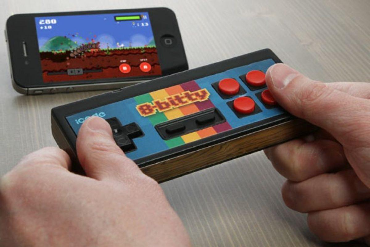 8-Bitty control para jugar Mario Bross en el iPhone Foto:nerdapproved.com
