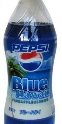 Pepsi Blue Hawái sabor piña y limón (Japón) Foto:theimpulsivebuy.com