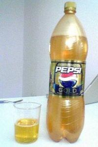 Pepsi dorada sabor sapote (Japón, Alemania, Finlandia y Europa Central) Foto:mail.google.com