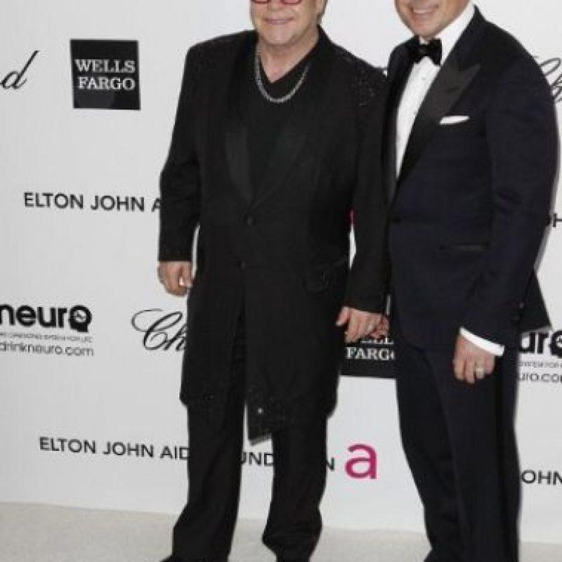 Elton John y su pareja, David Furnish Foto:AFP