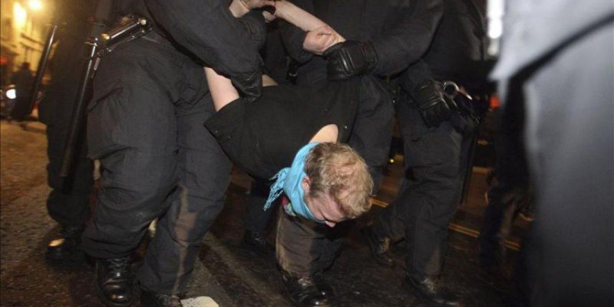 Veinte detenidos por el desalojo de los indignados de  Londres