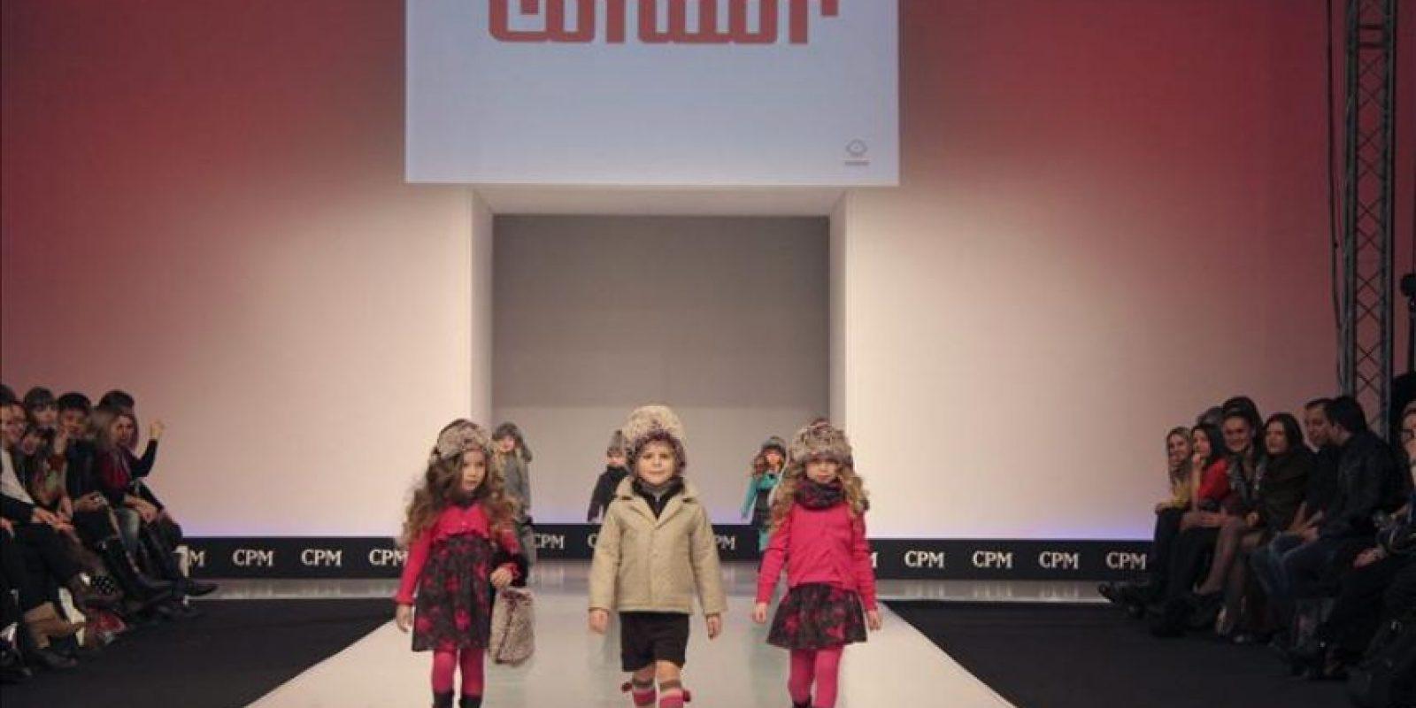 """La marca española de moda infantil """"Condorl"""" ha presentado hoy en la 18 edición de la feria internacional Collection Première Moscow (CPM) sus nuevas propuestas para la temporada Otoño-Invierno 2012-13. EFE"""
