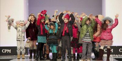 """La marca española de moda infantil """"Mayoral"""" ha presentado hoy en Moscú sus nuevas propuestas para la temporada Otoño-Invierno 2012-13. EFE"""