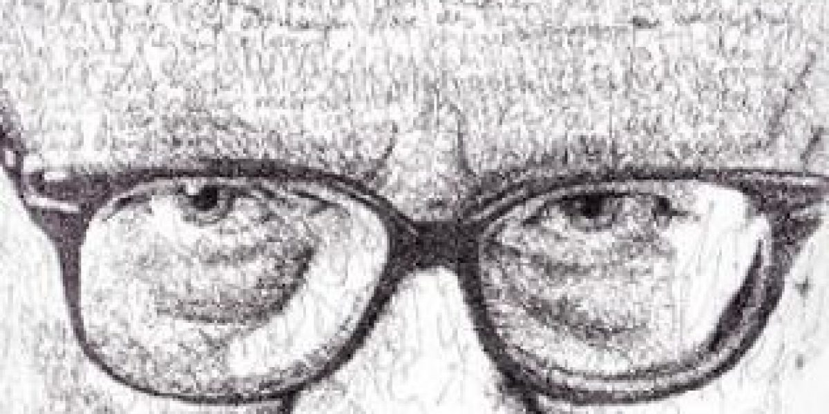 """El artista que """"escribe"""" dibujos"""