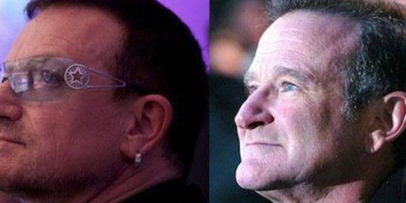 Bono y Robin Williams