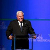 El presidente de Panamá, Ricardo Martinelli, habla el pasado 6 de octubre de 2011, en el V Foro de Competitividad de las Américas en Santo Domingo (República Dominicana). EFE/Archivo