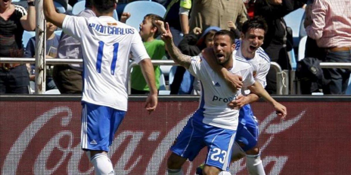 1-0. Apoño, de penalti, reengancha al Zaragoza a la lucha por la permanencia