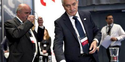 El ministro de Finanzas chipriota, Vassos Shiarlis, al inicio de la reunión informal de dos días de duración mantenida por los ministros de Economía y Finanzas de la UE en Copenhague. EFE