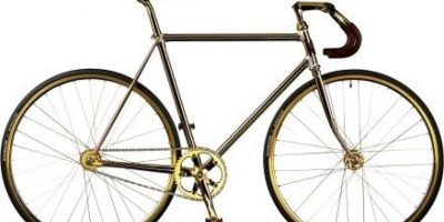 Bicicleta de oro. $114,464 dólares Foto:oddstuffmagazine.com