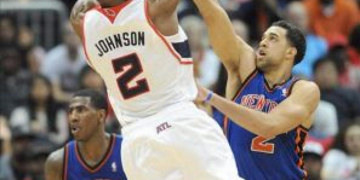 100-90. Johnson detiene mala la racha de los Hawks, que vencen a los Knicks
