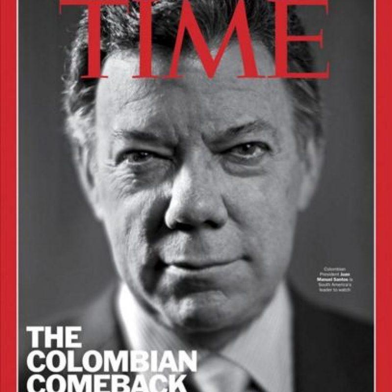 Fotografía cedida por Time Magazine de la portada de la edición dirigida a Europa de la revista Time correspondiente al 23 de abril 2012, donde aparece el presidente colombiano, Juan Manuel Santos. EFE