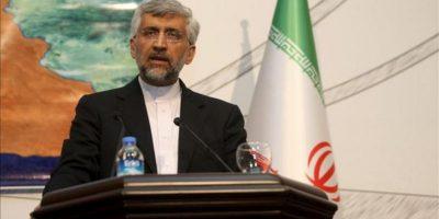 El jefe negociador iraní en materia nuclear, Said Jalili, hoy durante una reunión en Estambul sobre el programa atómico iraní. EFE