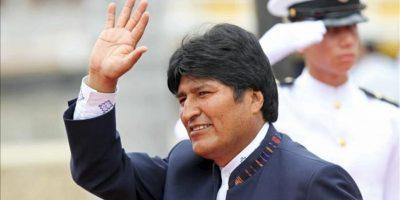 El presidente de Bolivia, Evo Morales, a su llegada al Centro de Convenciones, donde este 14 de abril, se inauguró la VI Cumbre de las Américas en Cartagena (Colombia). EFE