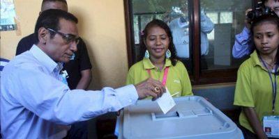 """El exjefe de las Fuerzas Armadas Francisco Guterres """"Lu Olo"""", vota este lunes 16 de abril de 2012, en Dili, Timor Oriental. EFE"""