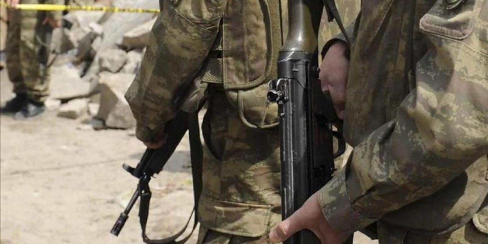 El ataque se produjo en el distrito de Nerkh, en la provincia central de Wardak, mientras una fuerza conjunta de las tropas afganas e internacionales participaban en una patrulla de seguridad. EFE/Archivo
