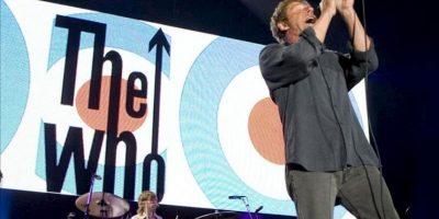 """La legendaria banda británica """"The Who"""", con el solista Roger Daltrey (en la imagen) y el guitarrista Pete Townsend al frente, durante una actuación. EFE/Archivo"""
