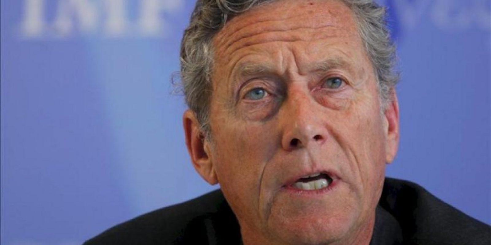"""Olivier Blanchard, economista jefe del FMI, insistió en que la """"reducción fiscal por sí sola no va resolver los problemas de competitividad en la periferia europea"""", por lo que recomendó tener en cuenta la debilidad económica en la región. EFE/Archivo"""