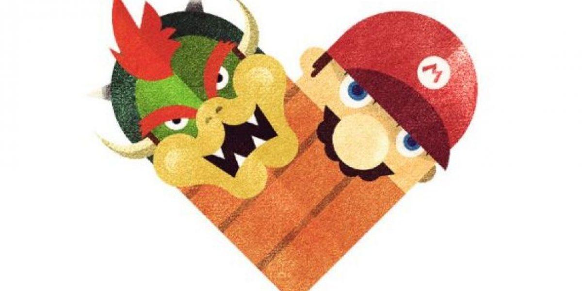 Espacio geek: Ilustraciones de corazones con famosos rivales