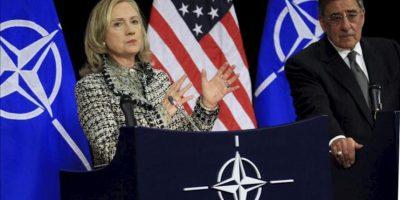 La secretaria de Estado estadounidense, Hillary Clinton, y su secretario de Defensa, Leon Panetta. EFE