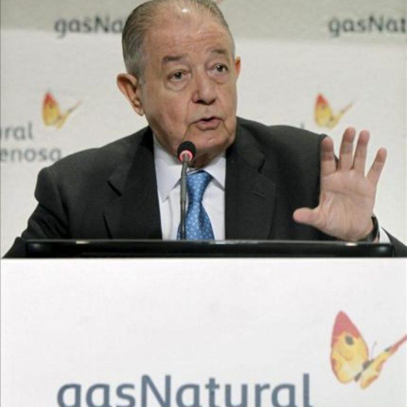 El presidente de Gas Natural Fenosa, Salvador Gabarró. EFE