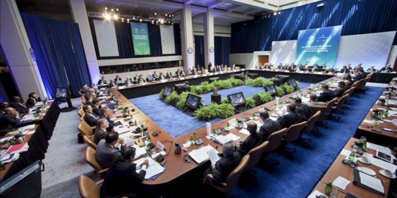 Reunión del G20 durante los encuentros del FMI y el Banco Mundial, en la sede del FMI en Washington, Estados Unidos. EFE