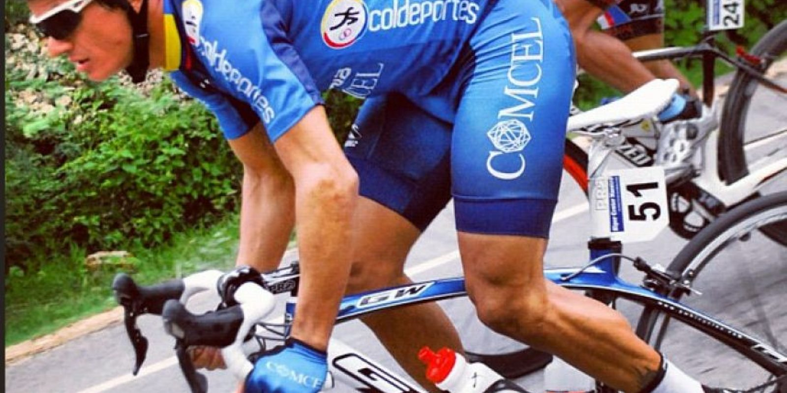 Mauricio Ardila, ciclista del Colombia-Comcel.