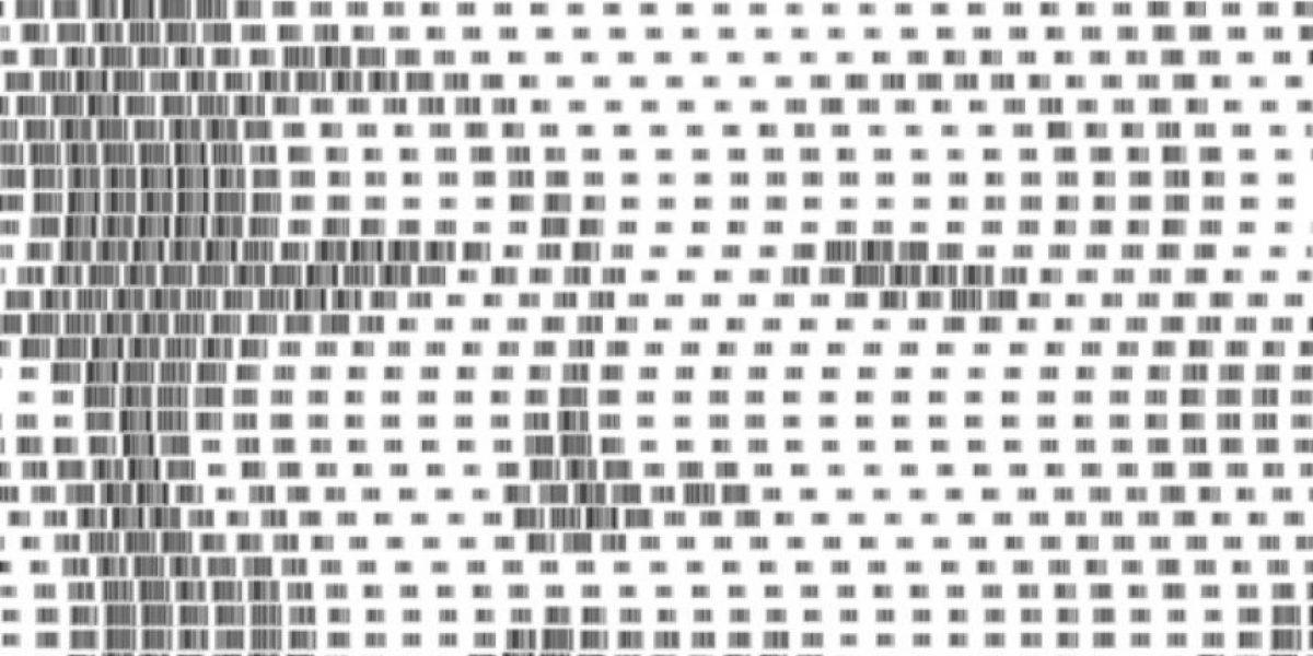 Retratos hechos con códigos de barras