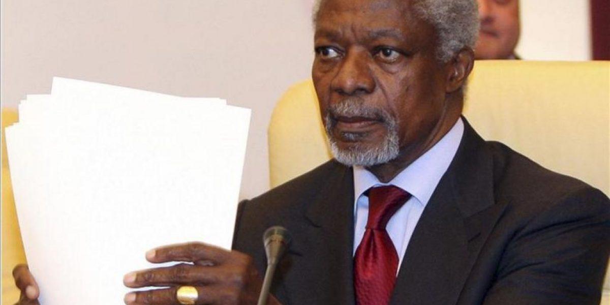 Kofi Annan pide a Damasco que desista del uso de armamento pesado