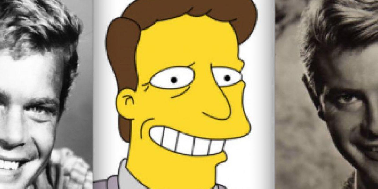 """Troy McClure tiene rasgos de dos estrellas de películas serie B: Troy Donahue (izquierda) y Doug McClure (derecha). A Dough no le importó ser el inspirador de este personaje. Lo único que no le gustó fue que su hija comenzar a llamarlo """"Troy"""". Foto:www.neatorama.com"""