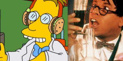 """El profesor Frink tiene su par en las pantalla grande en el científico protagonista de la película de Jerry Lewis, """"El profesor chiflado"""". Foto:www.neatorama.com"""