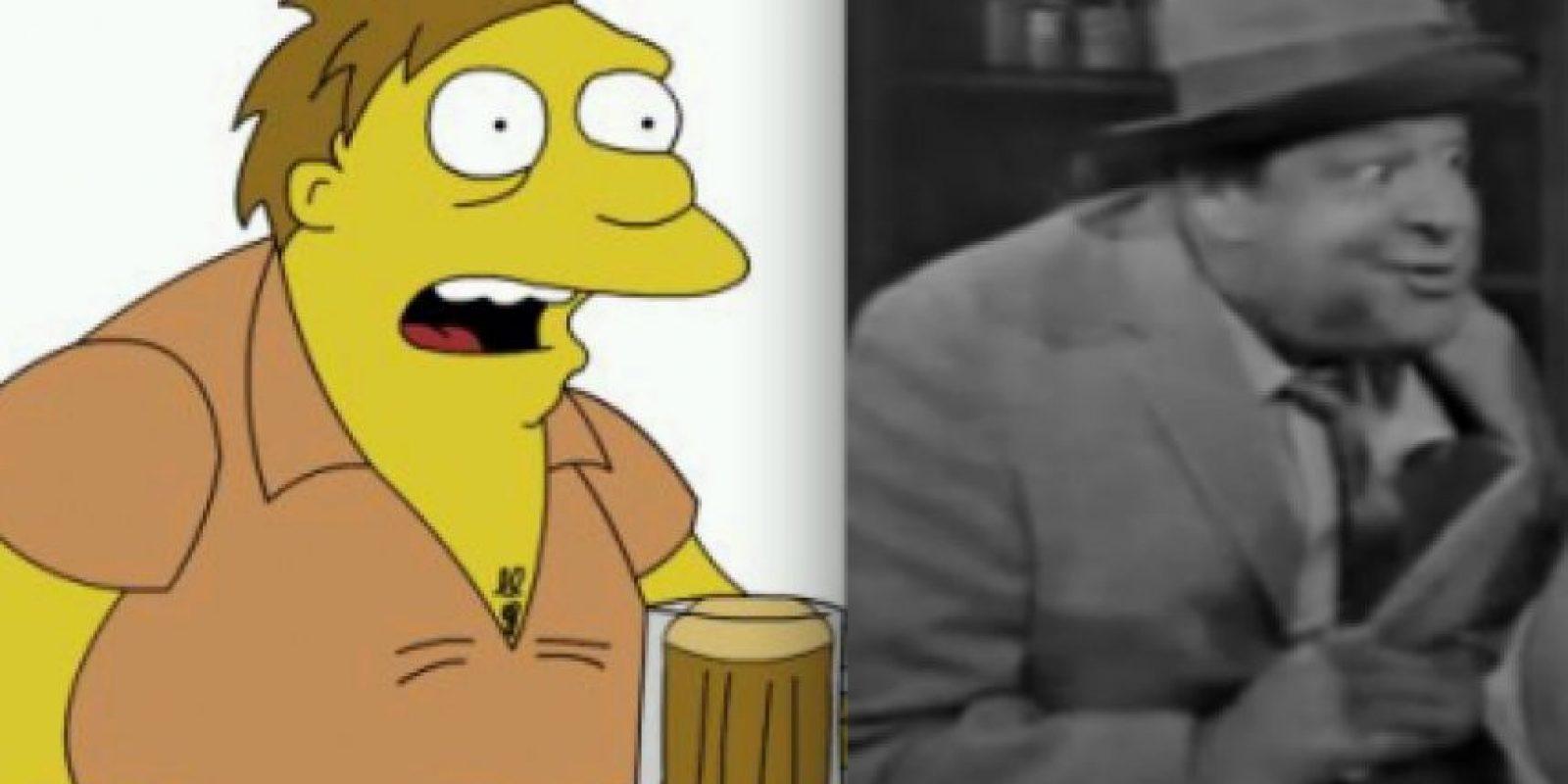 """Para crear a Barney, Groening pensó en Crazy Guggenheim, beodo cliente del bar de Jacky Gleason en el programa muy popular en Estados Unidos en los sesenta """"The Jacky Gleason Show"""". Foto:www.neatorama.com"""