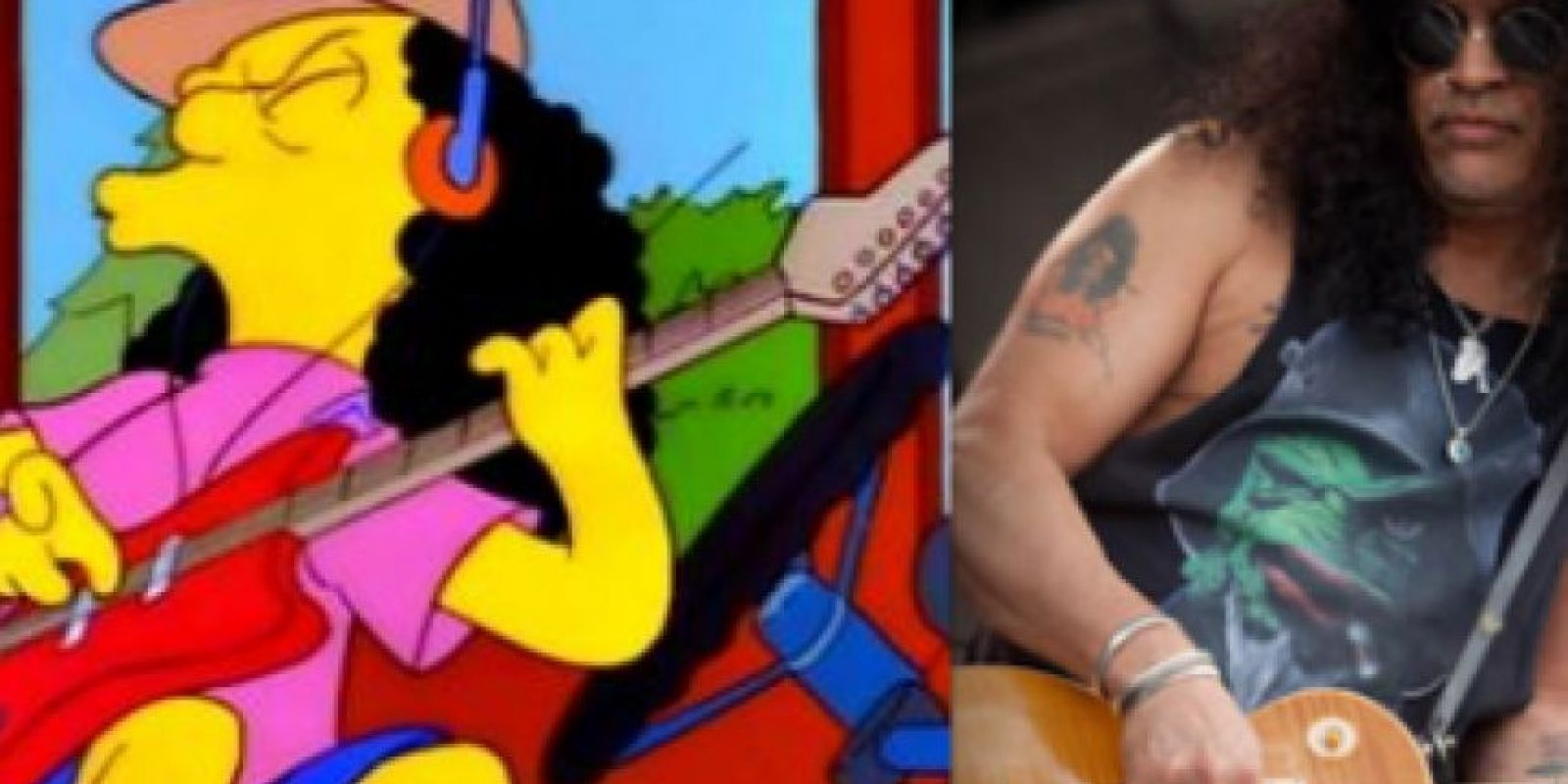 ¿También fácil? Otto Mann fue inspirado por Slash, guitarrista de Guns 'n' Roses. Foto:www.neatorama.com