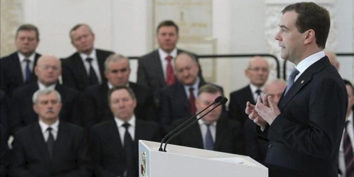 Medvédev esboza en su despedida el que podría ser su programa de gobierno