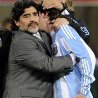 Consuelo de Maradona tras la derrota 4-0 contra Alemania en el Mundial de Sudáfrica 2010. Foto:AFP