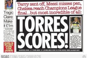 ¡Expulsaron a Terry, Messi falló un penalti, el Chelsea llegó a la final… pero lo más increíble es que Torres anotó!