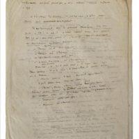 """Imagen facilitada por la casa de ventas Artcurial del manuscrito de """"El Principito"""" descubierto recientemente, que incluye algunos pasajes inéditos y modificaciones respecto de la obra publicada por Antoine de Saint-Exupéry en 1943, y saldrá a subasta el próximo 16 de mayo en París. EFE"""