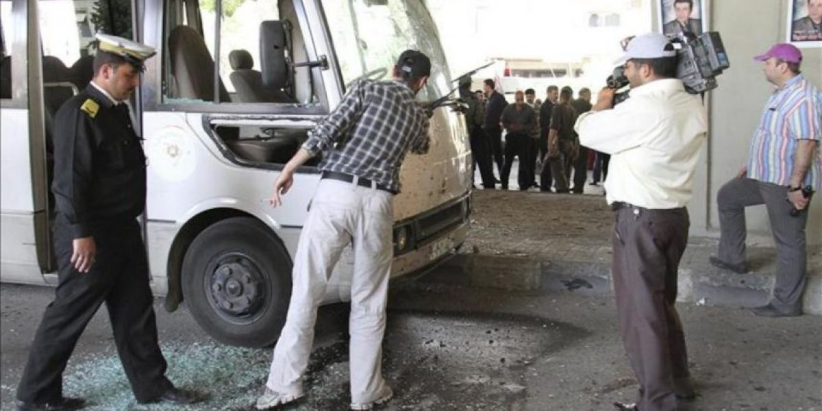 Al menos 11 muertos en un doble atentado en Damasco, según fuentes oficiales