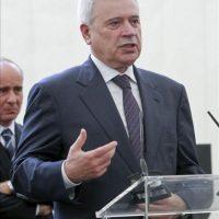 El presidente de Lukoil, Vagit Alekperov, durante la inauguración hoy de la nueva terminal en el Puerto de Barcelona de Lukoil y Meroil, una alianza con la que la petrolera rusa desembarca en España. EFE