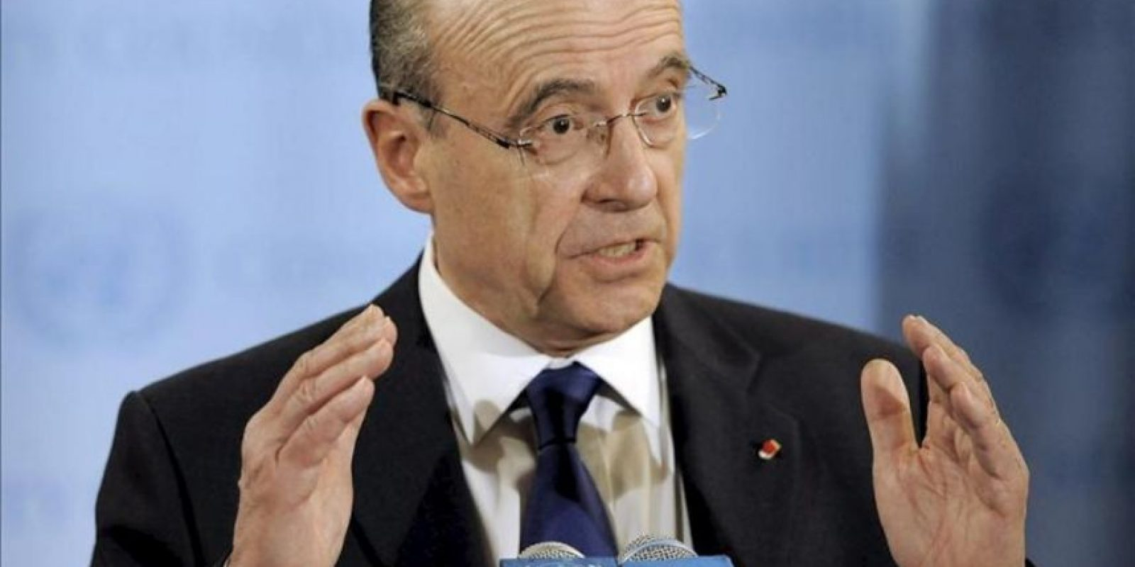 El ministro francés de Exteriores, Alain Juppé. EFE/Archivo
