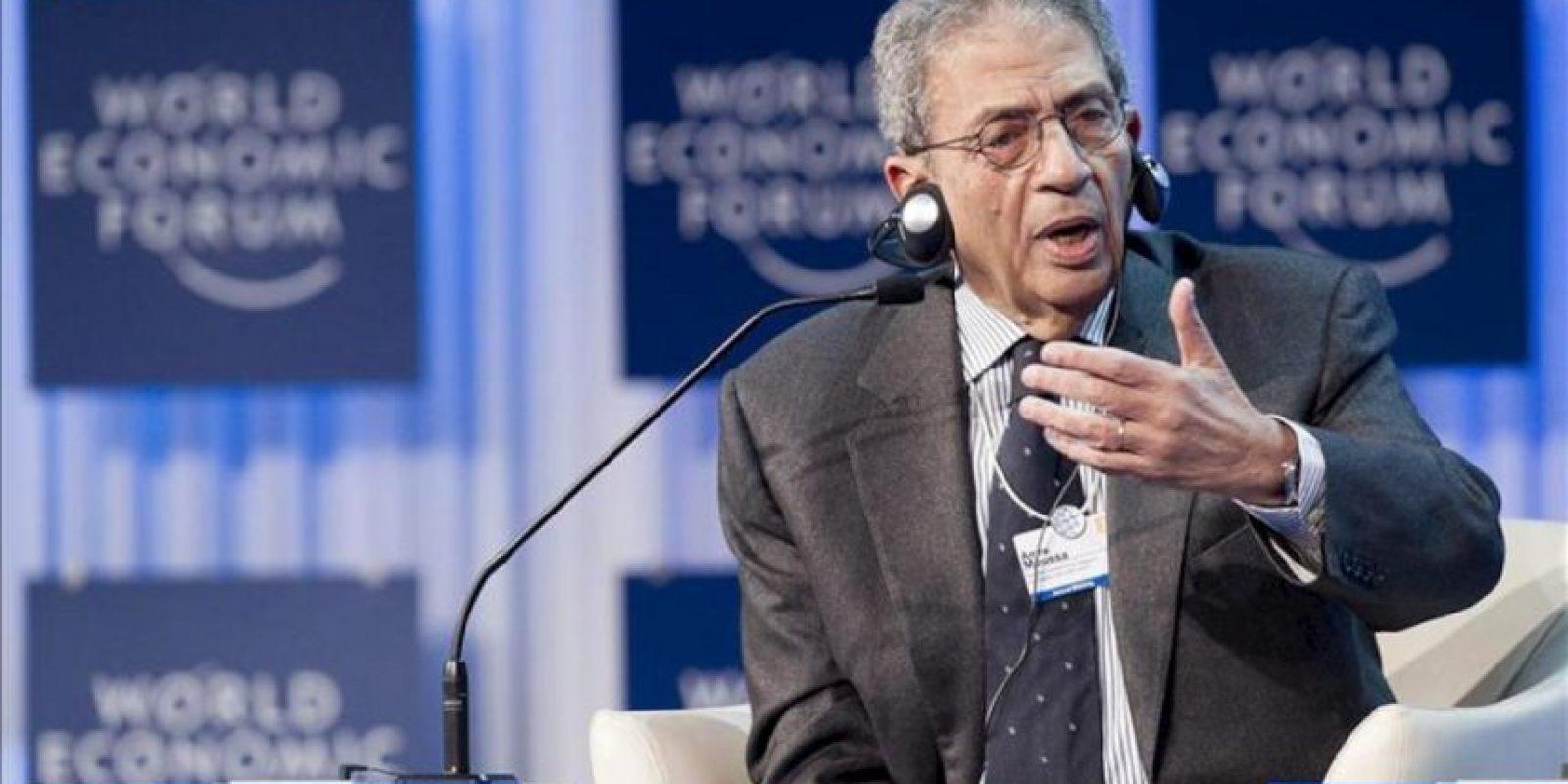 El candidato a la Presidencia egipcia y ex secretario general de la Liga Árabe, Amro Musa. EFE/Archvio