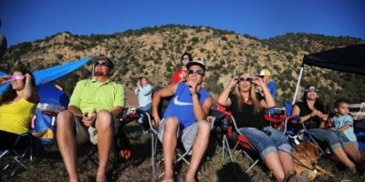 En Utah, Estados Unidos, también se pudo apreciar el fenómeno. Foto:AFP