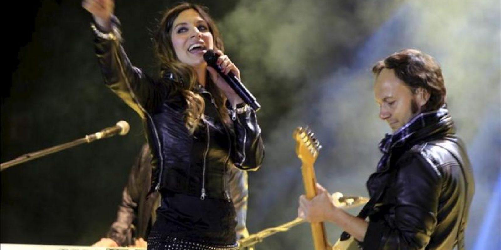"""El grupo español La Oreja de Van Gogh se presenta en concierto en Quito, como parte de su gira """"Cometas por el cielo"""". EFE"""