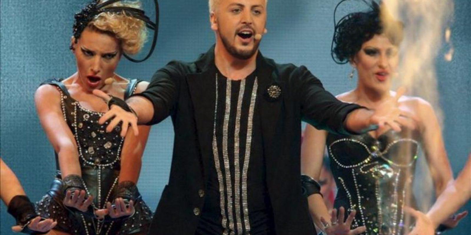 Anri Jokhadze de Georgia se presenta en la segunda semifinal del Concurso de la Canción Eurovisión 2012. EFE