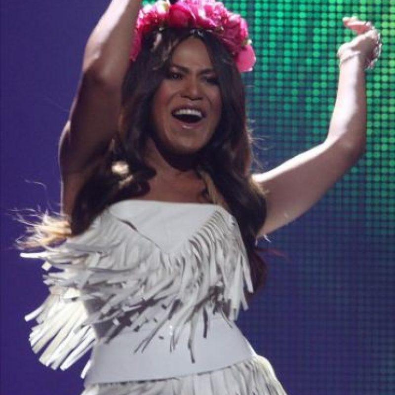 La ucraniana Gaitana se presenta en la segunda semifinal del Concurso de la Canción Eurovisión 2012. EFE